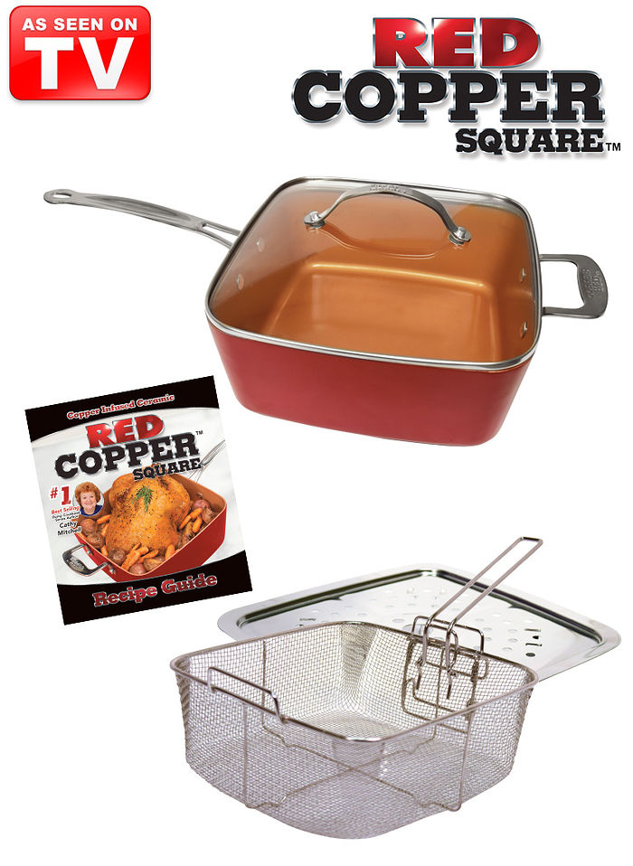 5-Pc. Red Copper™ Pan Set
