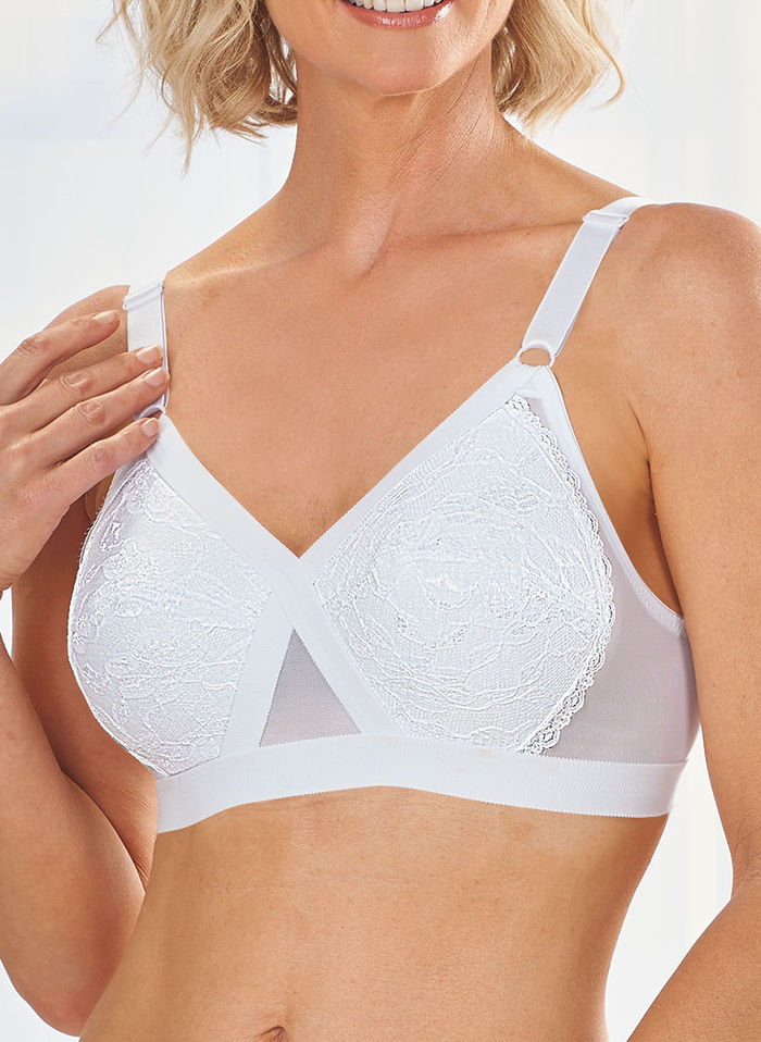 Plusform® Crossover Bra with Lace Cups