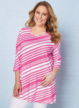 Main Diagonal Stripe Tunic