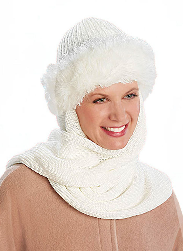 Fur Hat with Scarf