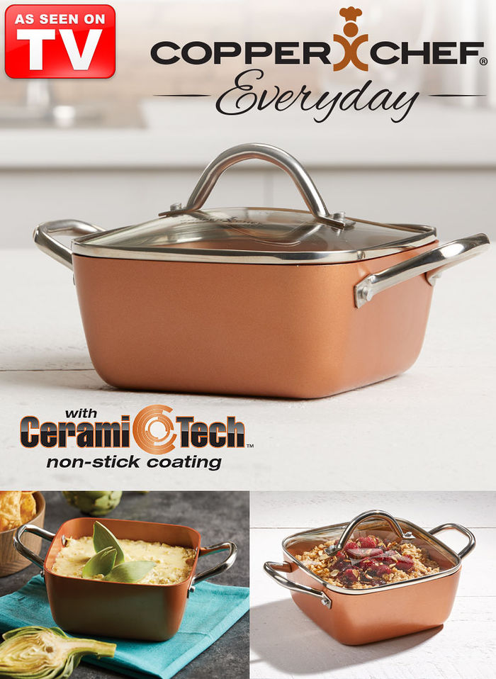 Copper Chef Everyday 7 Quot Casserole Pan Feel Good Store