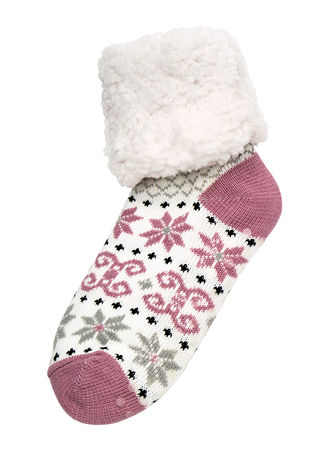Main Plush Sherpa Slipper Socks