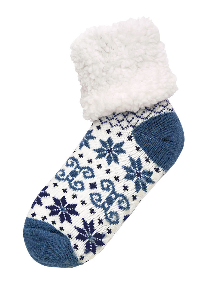 Plush Sherpa Slipper Socks
