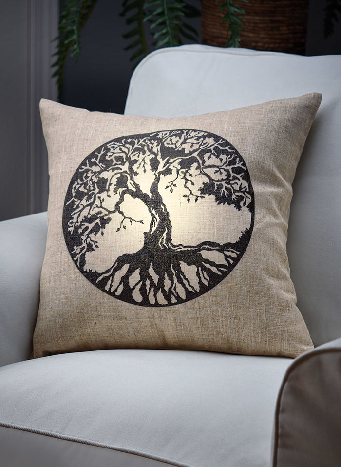 Tree of Life LED Pillow